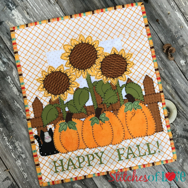 Happy Fall Mini Quilt for October