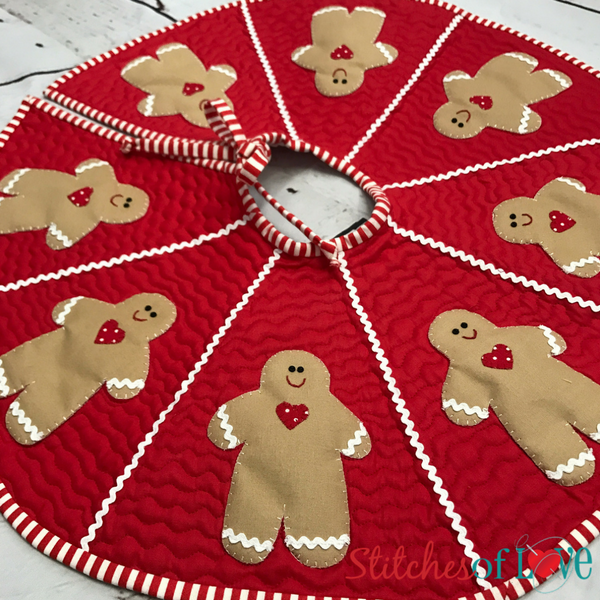Gingerbread Man Tree Skirt