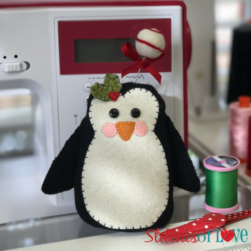 Penguin Pincushion by Sewing Machine